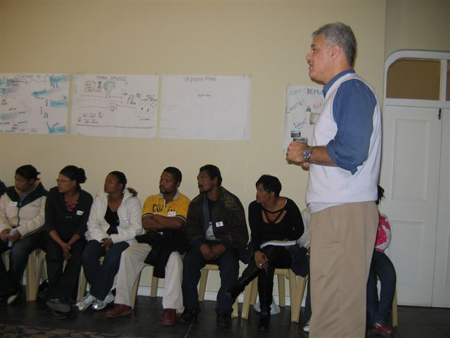 Eugene Liebenberg with farm worker participants